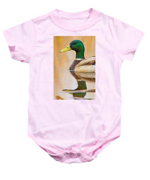 Mallard Mirror Baby Onesie