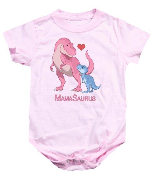 Mama Tyrannosaurus Rex Baby Boy Baby Onesie