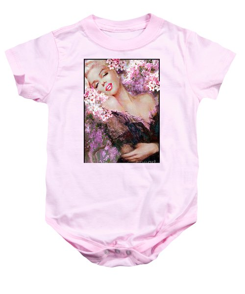 Marilyn Cherry Blossoms Pink Baby Onesie