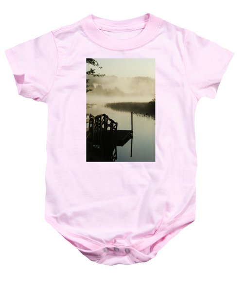 Misty Oregon Morning Baby Onesie