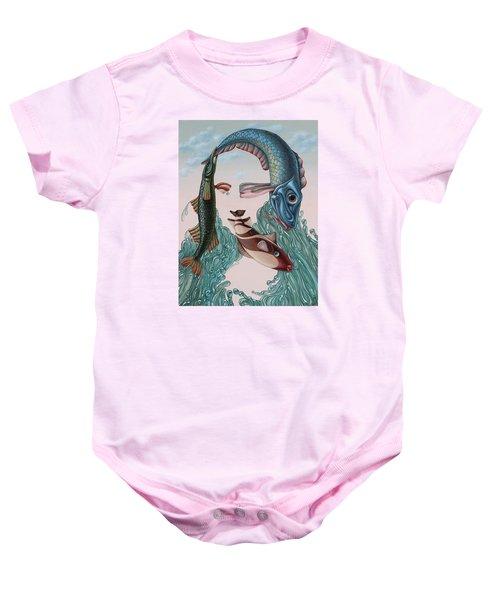Mona Lisa. Water Baby Onesie
