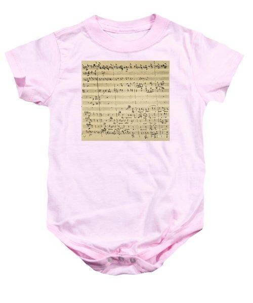 Mozart: Requiem Excerpt Baby Onesie