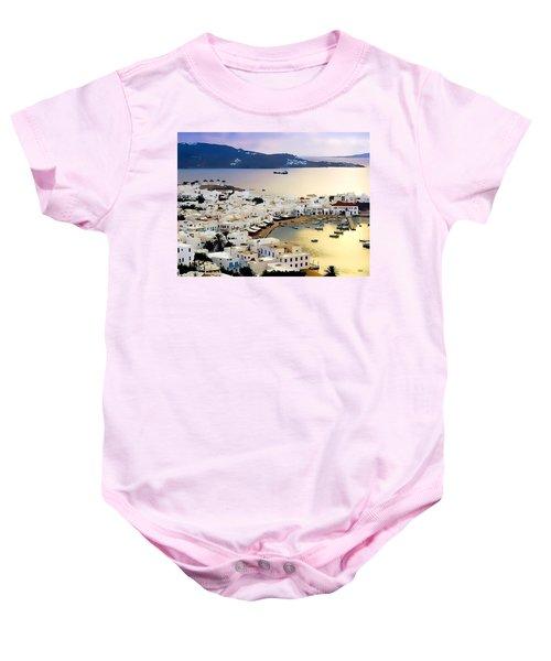 Mykonos Greece Baby Onesie