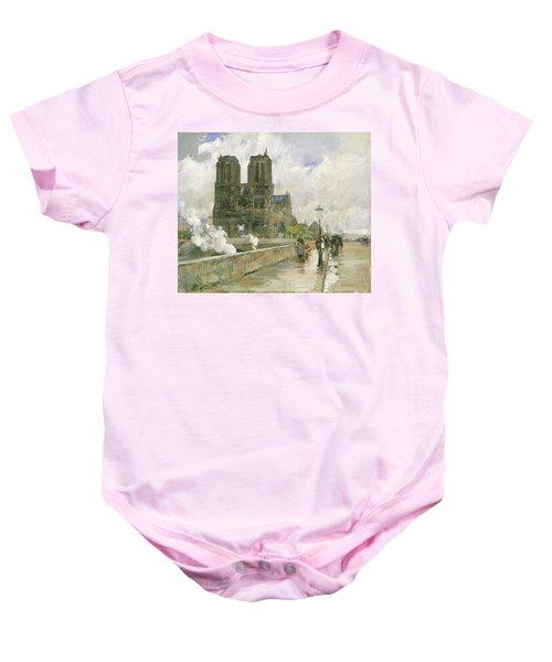 Notre Dame Cathedral - Paris Baby Onesie
