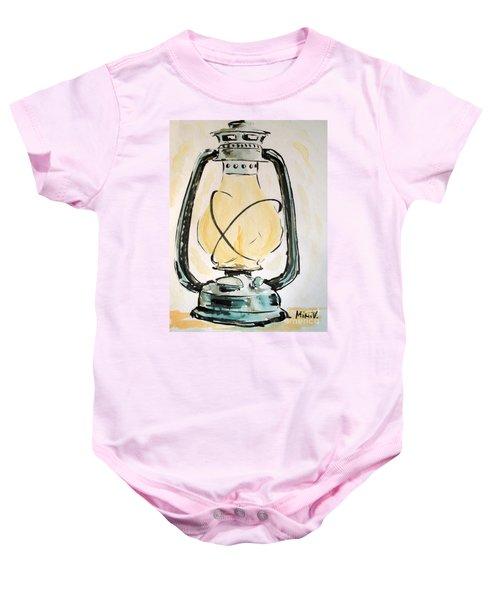 Oil Lamp Baby Onesie