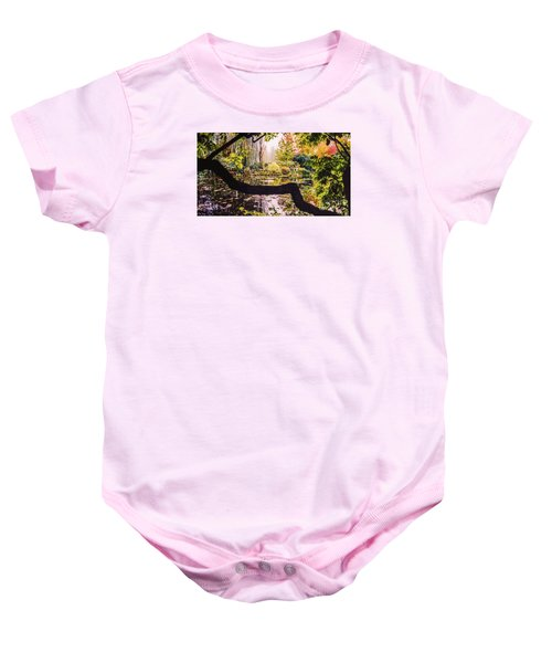 On Oscar - Claude Monet's Garden Pond  Baby Onesie