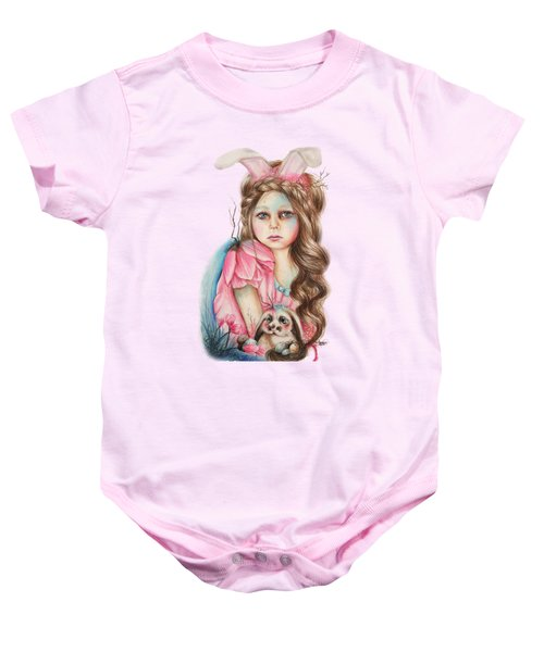 Only Friend In The World - Bunny Baby Onesie by Sheena Pike