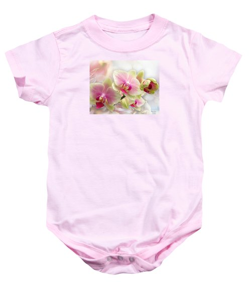 Baby Onesie featuring the photograph Orchids by Morag Bates
