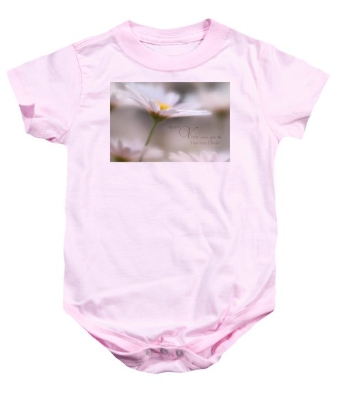 Over The Top With Message Baby Onesie