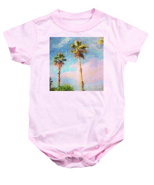 Painted Palms Baby Onesie