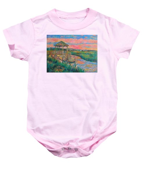 Baby Onesie featuring the painting Pawleys Island Atmosphere Stage Two by Kendall Kessler