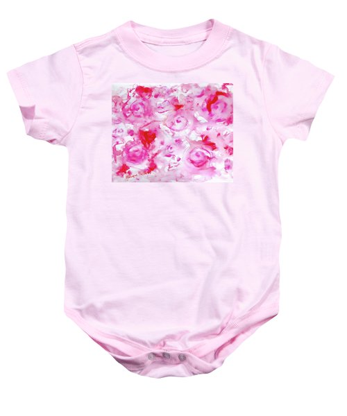 Pink Abstract Floral Baby Onesie