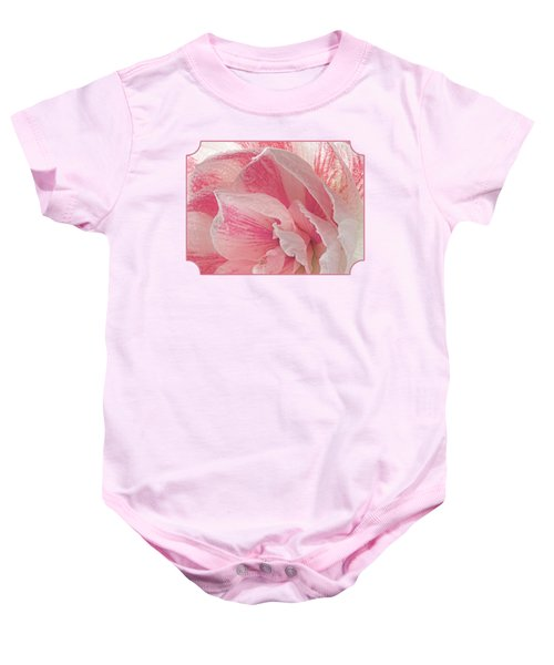 Pink Amaryllis Abstract Baby Onesie