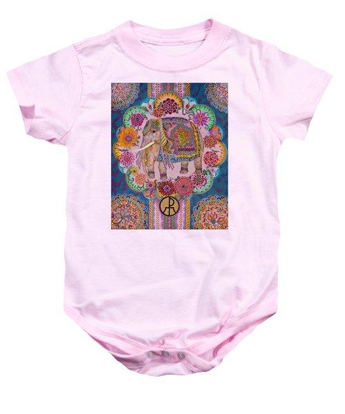 Pink Elephant Baby Onesie