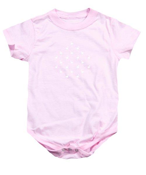 Pink Flamingos Pattern Baby Onesie