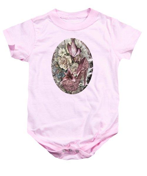 Pink Slipper Baby Onesie