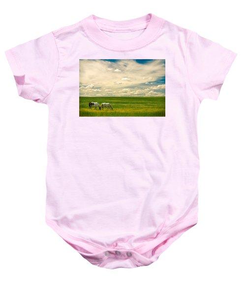 Prairie Horses Baby Onesie