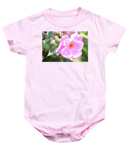 Pretty Pink Rose Baby Onesie