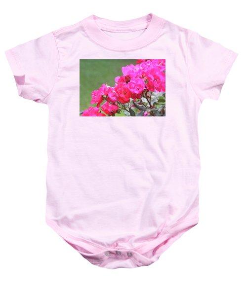 Pretty Pink Roses Baby Onesie