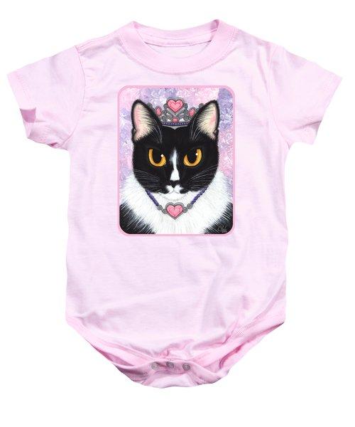 Princess Fiona -tuxedo Cat Baby Onesie