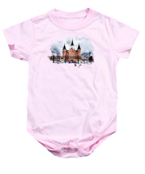Provo City Center Temple Baby Onesie