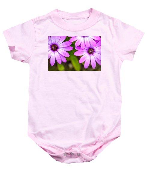 Purple Petals Baby Onesie