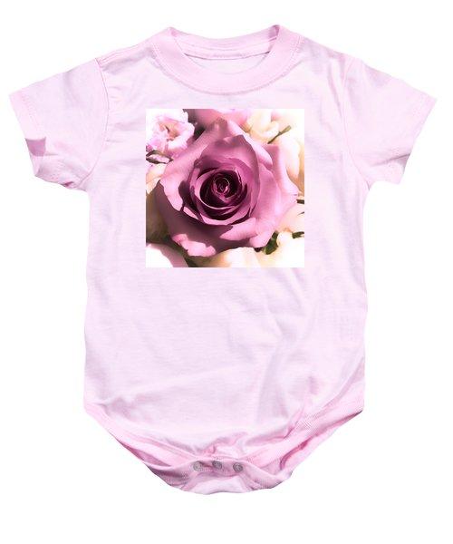 Purple Rose Baby Onesie