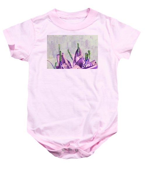 Purple Water Plant Baby Onesie
