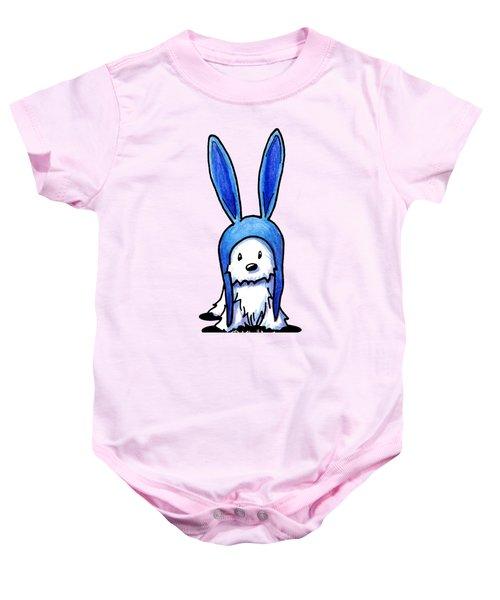 Rabbit Ears Westie Baby Onesie by Kim Niles