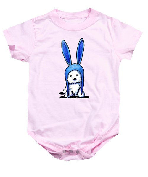 Rabbit Ears Westie Baby Onesie