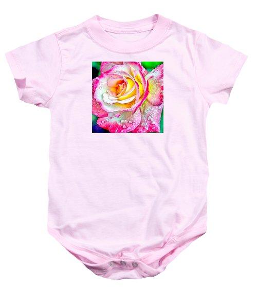 Radiant Rose Of Peace Baby Onesie