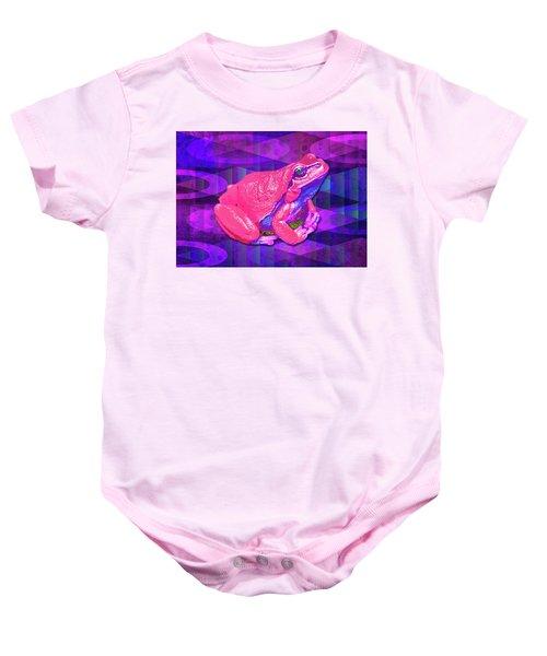 Raspberry Frog Baby Onesie