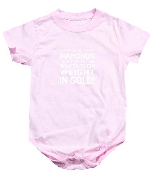Real Diamonds Baby Onesie