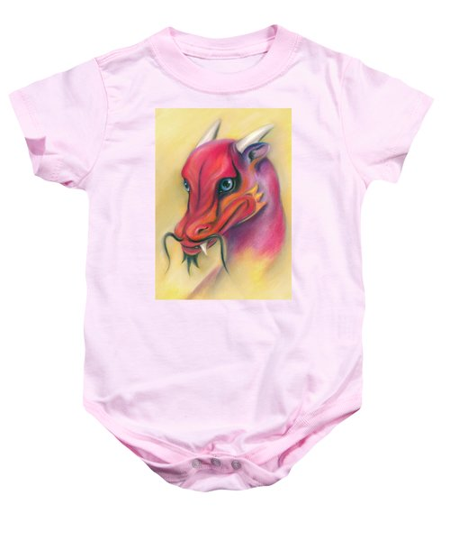 Red And Orange Asian Dragon Baby Onesie