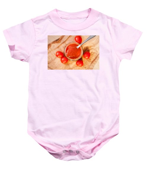 d903872f7 Red Homemade Tomato Ketchup Baby Onesie