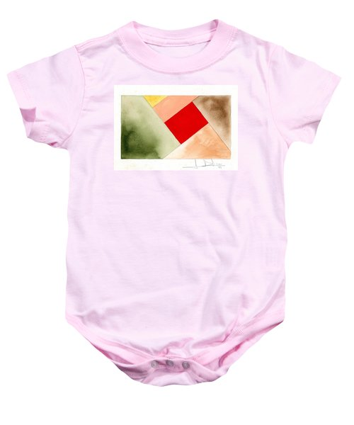 Red Square Tanned Baby Onesie