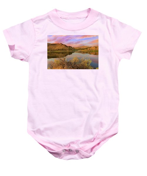 Reflection Of Scenic High Desert Landscape In Central Oregon Baby Onesie