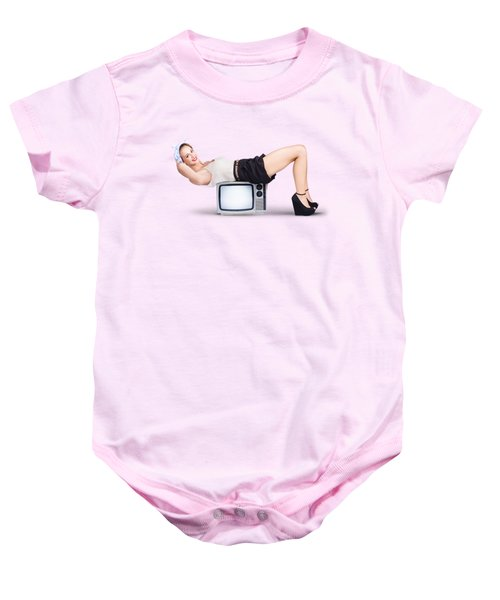 Baby Onesie featuring the photograph Retro Housewife by Jorgo Photography - Wall Art Gallery