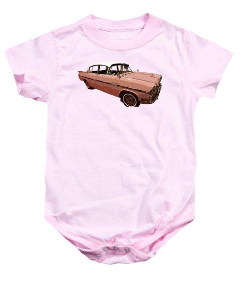 Retro Pink Car Art Baby Onesie