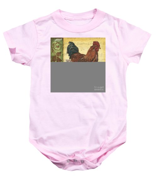 Retro Rooster 2 Baby Onesie