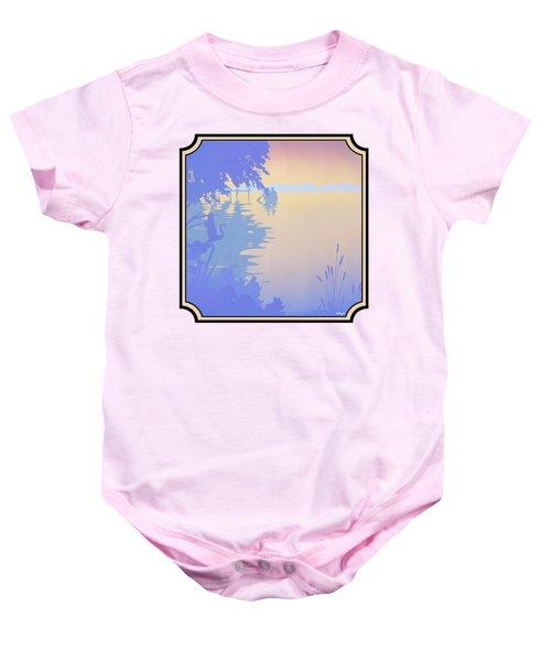 Rowing Back To The Boat Dock At Sunset Abstract Baby Onesie