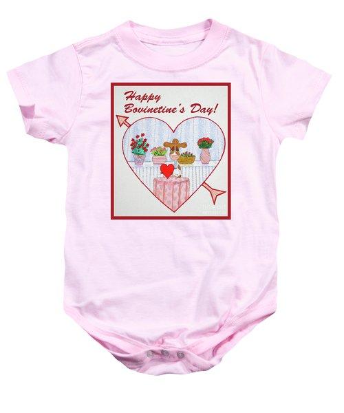 Ruthie-moo Happy Bovinetinesday Baby Onesie