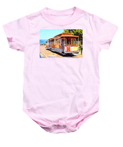 San Francisco Cablecar At Fishermans Wharf . 7d14097 Baby Onesie