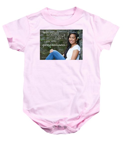 Save A Girl Baby Onesie