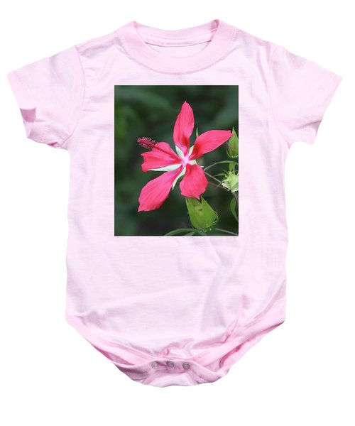 Scarlet Hibiscus #4 Baby Onesie