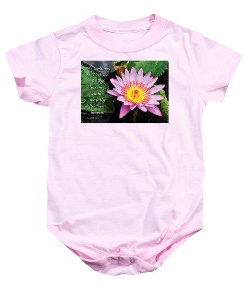 Seedlings Of God Baby Onesie