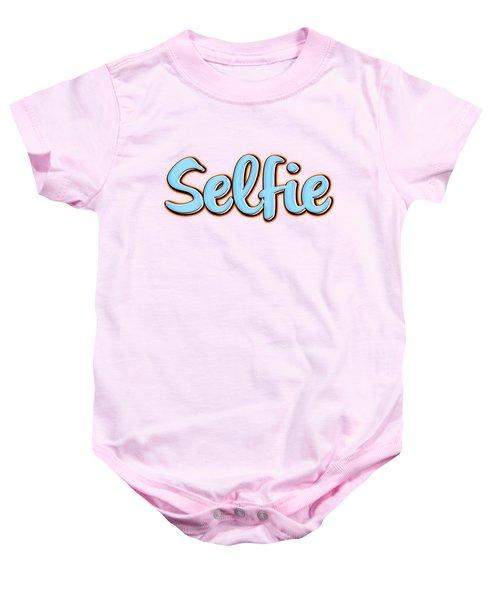 Selfie Tee Baby Onesie by Edward Fielding