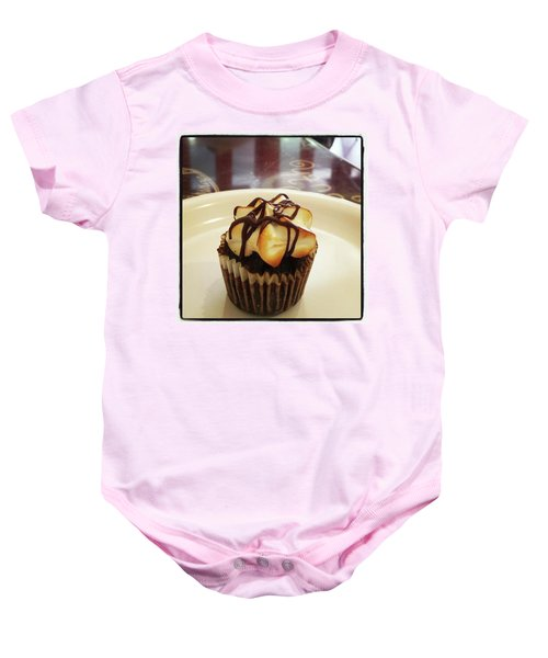 Baby Onesie featuring the photograph smore Miniature Cupcake N Coffee by Mr Photojimsf