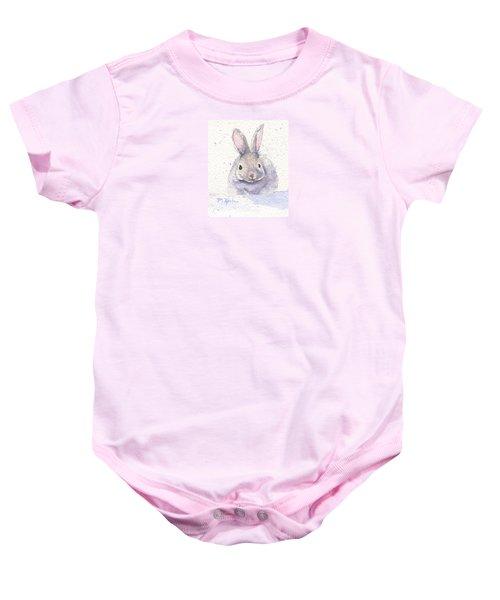 Snow Bunny Baby Onesie