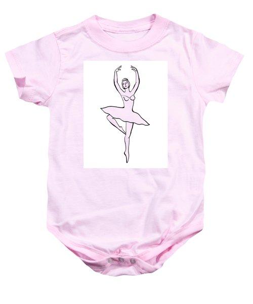 Spinning Ballerina Silhouette Baby Onesie